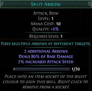 Path of Exile - Split Arrow