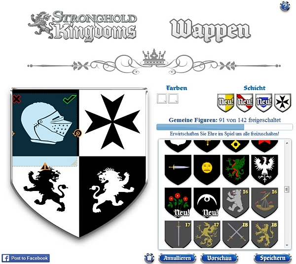 Stronghold Kingdoms Wappen