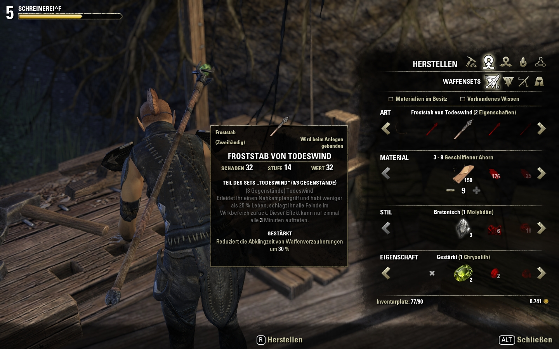 Elder Scrolls Online Set Items Crafting