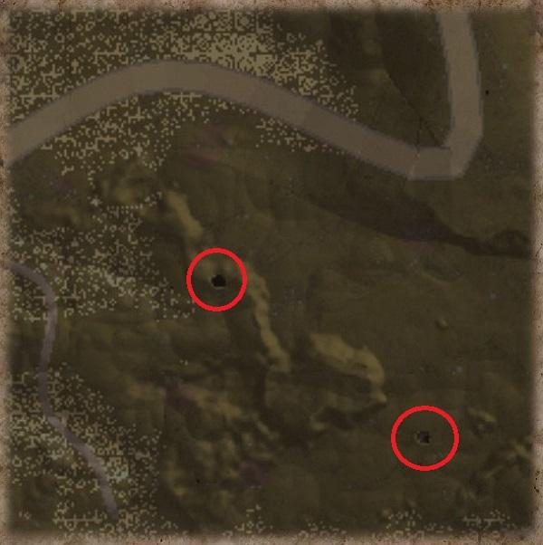 Höhlen lassen sich über die Karte leicht finden!