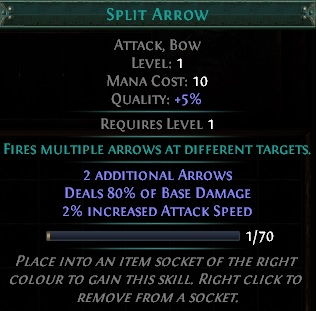 Path of Exile - Split Arrow