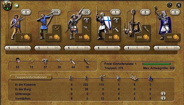 Stronghold Kingdoms Truppen