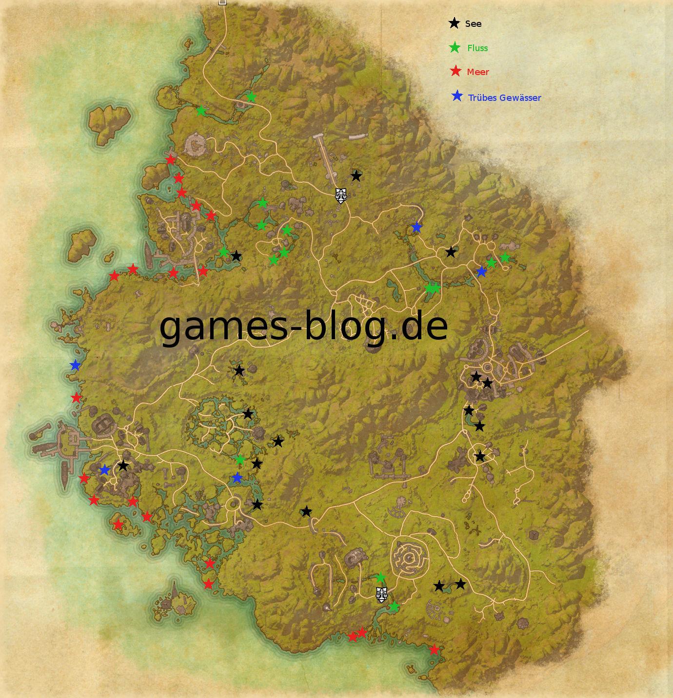 Elder Scrolls Online – Fischgründe in Grünschatten (Karte ...