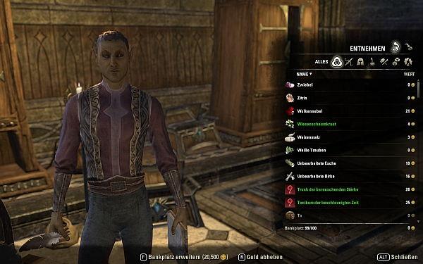 Elder Scrolls Online Bankausbau