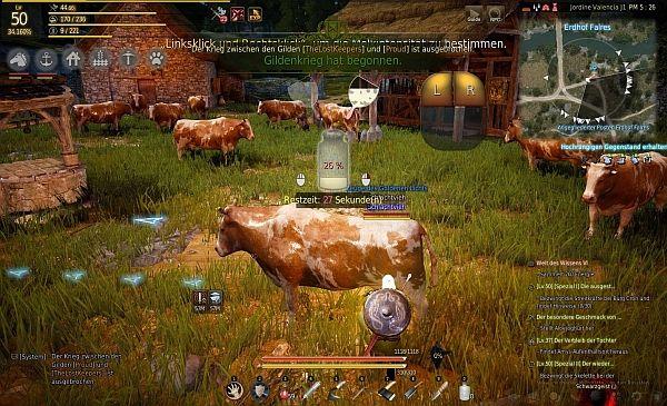 Minispiel Kuh melken