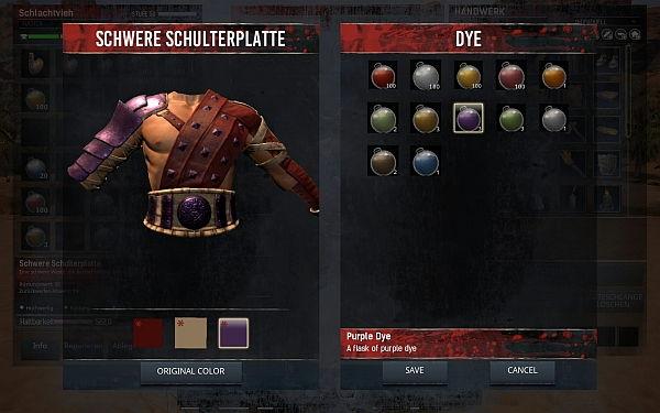 Conan Exiles - Rüstung färben
