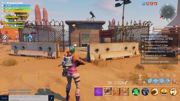 Fortnite - Bunker finden