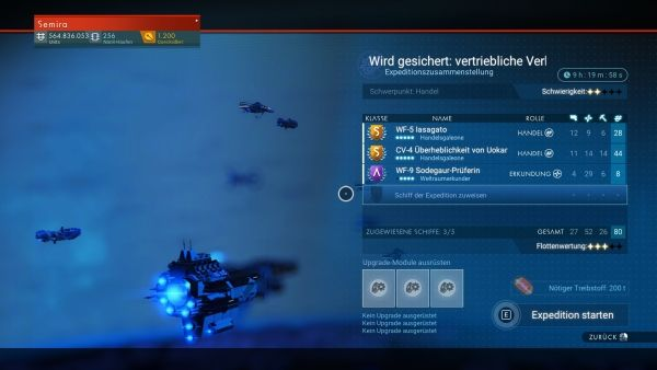 No Man's Sky - Flottenwertung