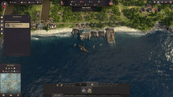 Anno 1800 - Expedition starten