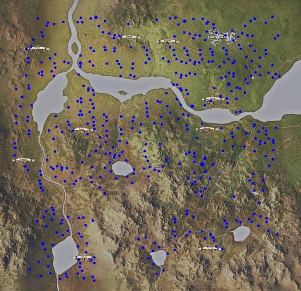 Medieval Dynasty - Karte Beeren