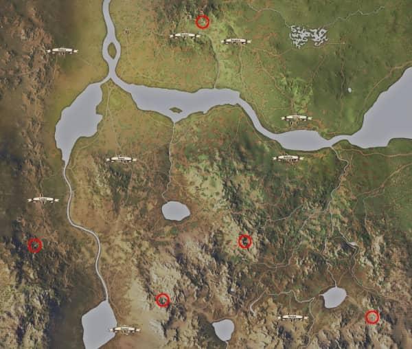 Medieval Dynasty - Höhlen Karte